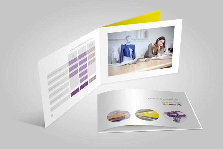 Agence de communication – Graphiste – Genève – Lausanne – Rapport d'activité
