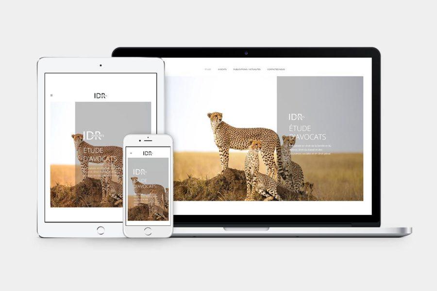 Agence de communication – Graphiste – Genève – Lausanne – Webdesign – IDR Avocats